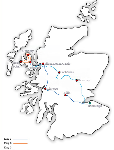 MAP EH The Isle of Skye 3 Day Tour