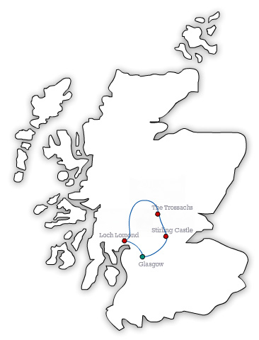MAP GW Stirling Castle, Loch Lomond National Park and Whisky 1 Day Tour